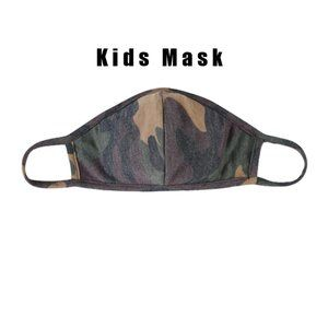 Other - Kids Brown Camouflage T-Shirt Cloth Face Mask